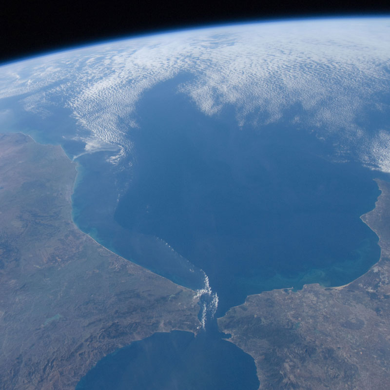 Caption: Strait of Gibraltar from space, Credit: Wikipedia Commons