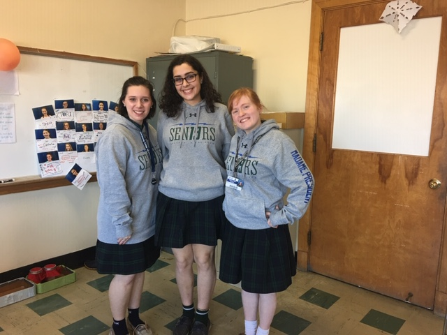 Caption: Mount St. Mary Academy seniors were inspired by personal experience with Alzheimer's disease to create their activity book., Credit: WBFO, Eileen Buckley