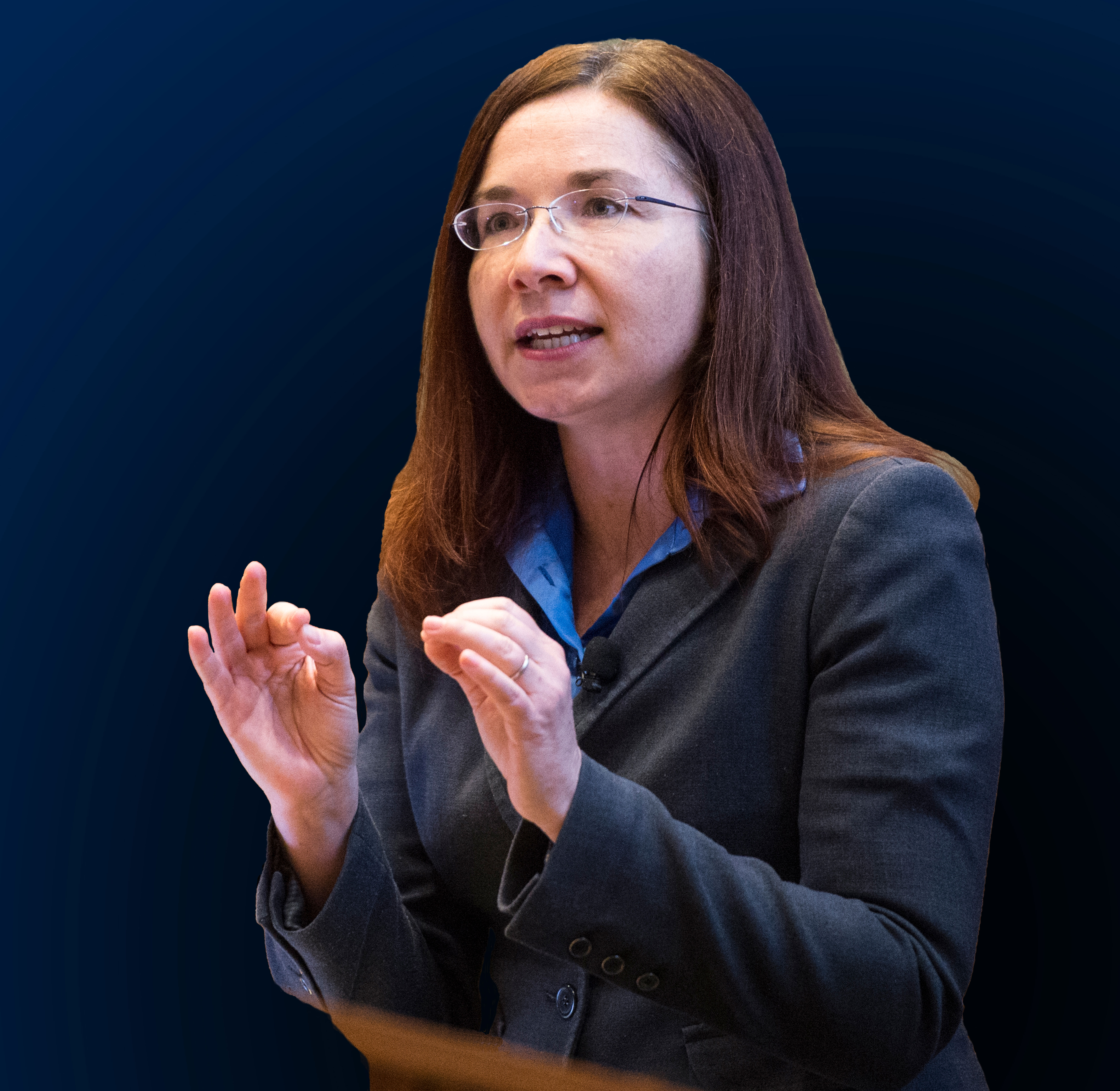 Caption: Katharine Hayhoe, recipient of the 2018 Stephen H. Schneider Award for Outstanding Science Communication