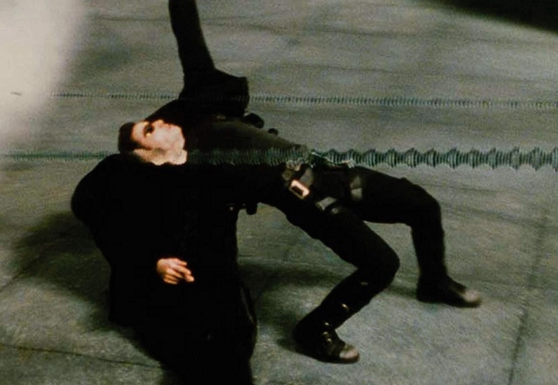 Caption: Keanu Reeves in 'The Matrix' (1999)