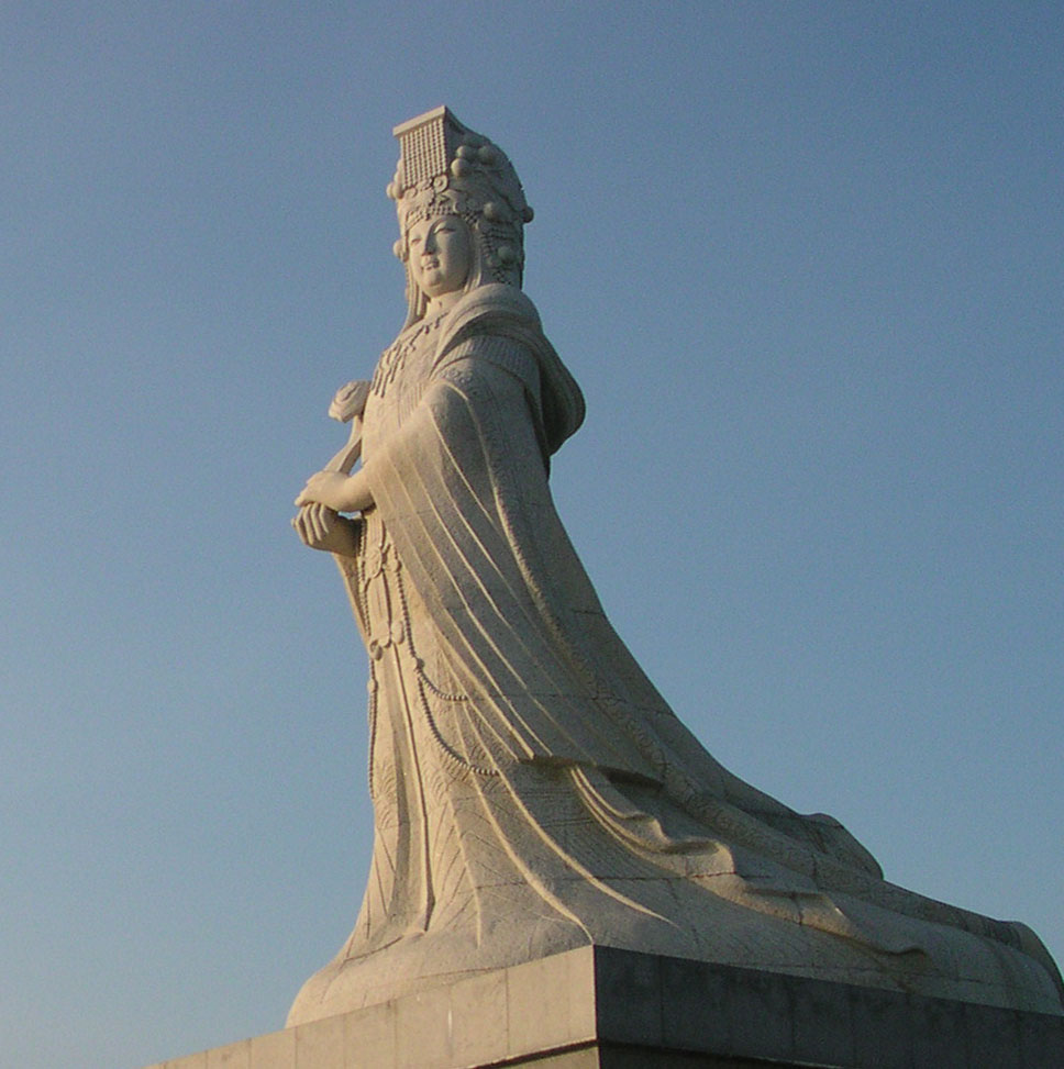 Caption: Mazu is a Chinese sea goddess, a tutelary deity of seafarers including fishermen and sailors. Worship of Mazu has spread throughout coastal Chinese regions and throughout Southeast Asia, Credit: Wikimedia Commons