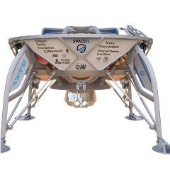 Caption: SpaceIL's Beresheet lunar lander, Credit: SpaceIL
