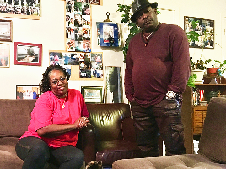 Caption: Darryl Lester (Larry P.) and wife Cecilia in their Tacoma home., Credit: Lee Romney