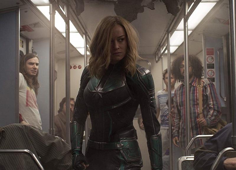 Caption: Brie Larson in 'Captain Marvel'