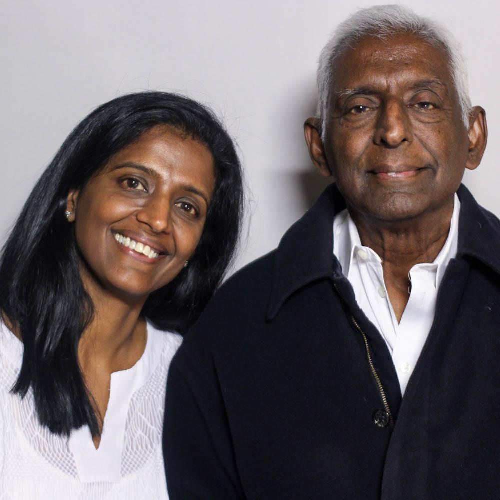 Caption: Paru Venkat and Alagappa Rammohan
