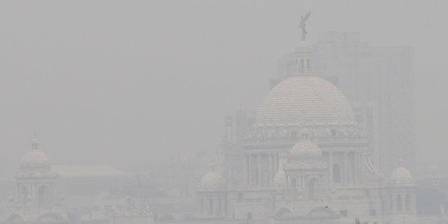 Caption: Victoria Memorial Hall in Kolkata