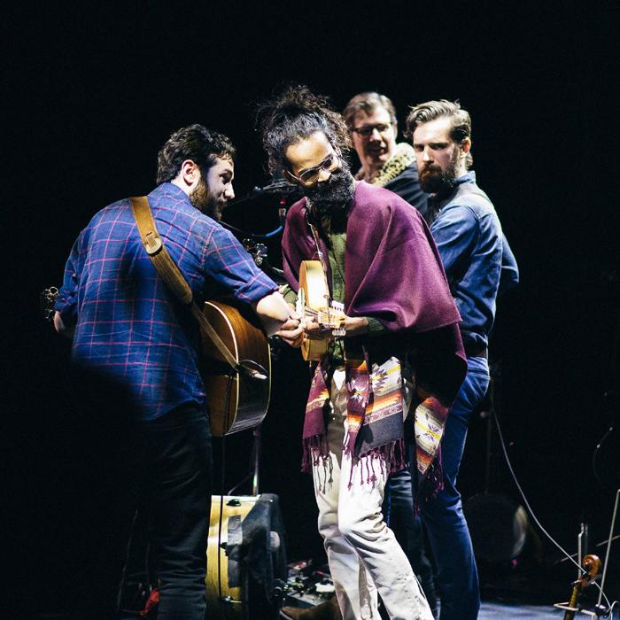 Caption: Darlingside in concert, Credit: Lauren Sophia Photography from Darlingside's Facebook
