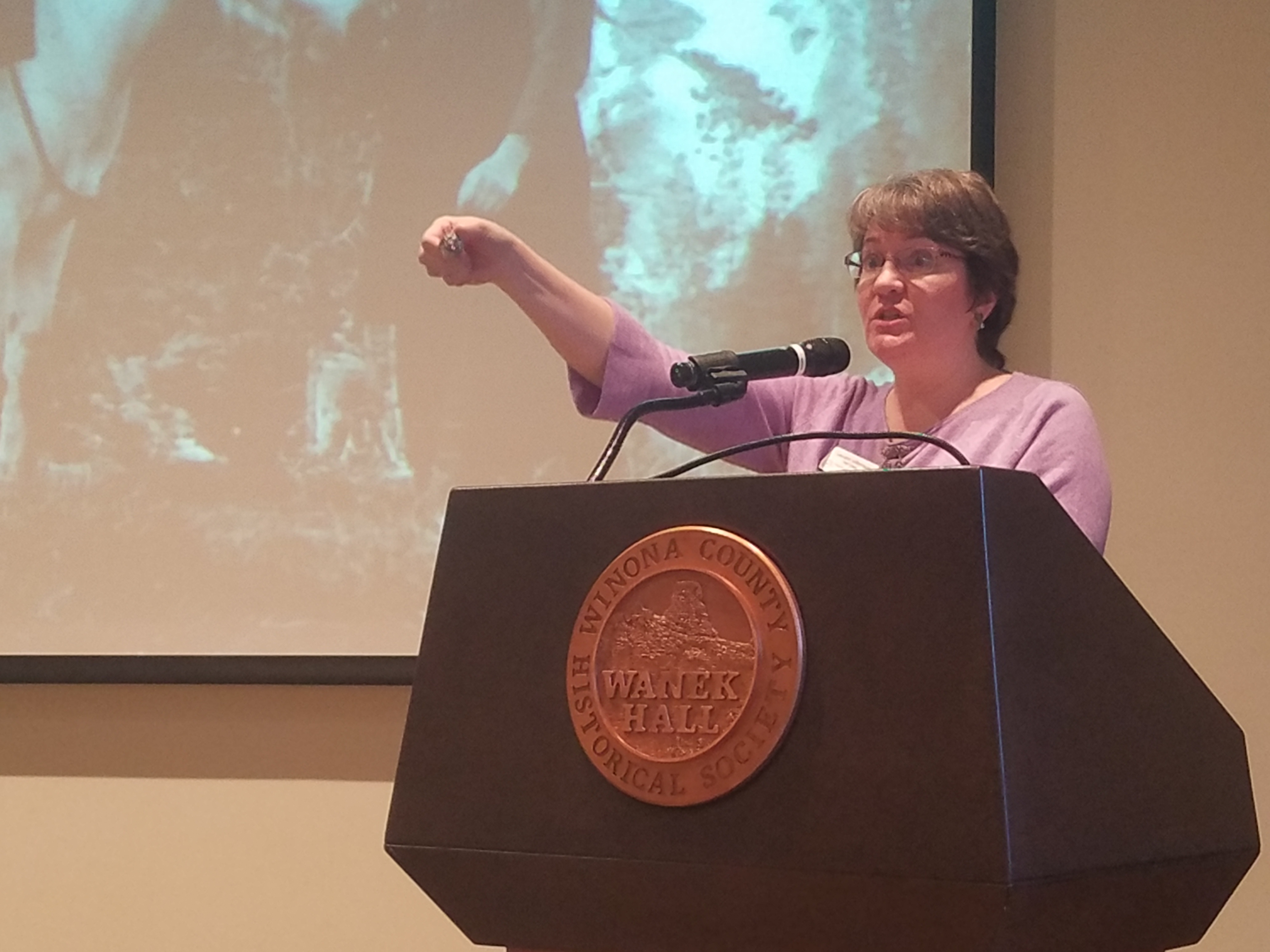 Caption: Laurann Gilbertson, Chief Curator at Vesterheim, The National Norwegian-American Museum and Heritage Center