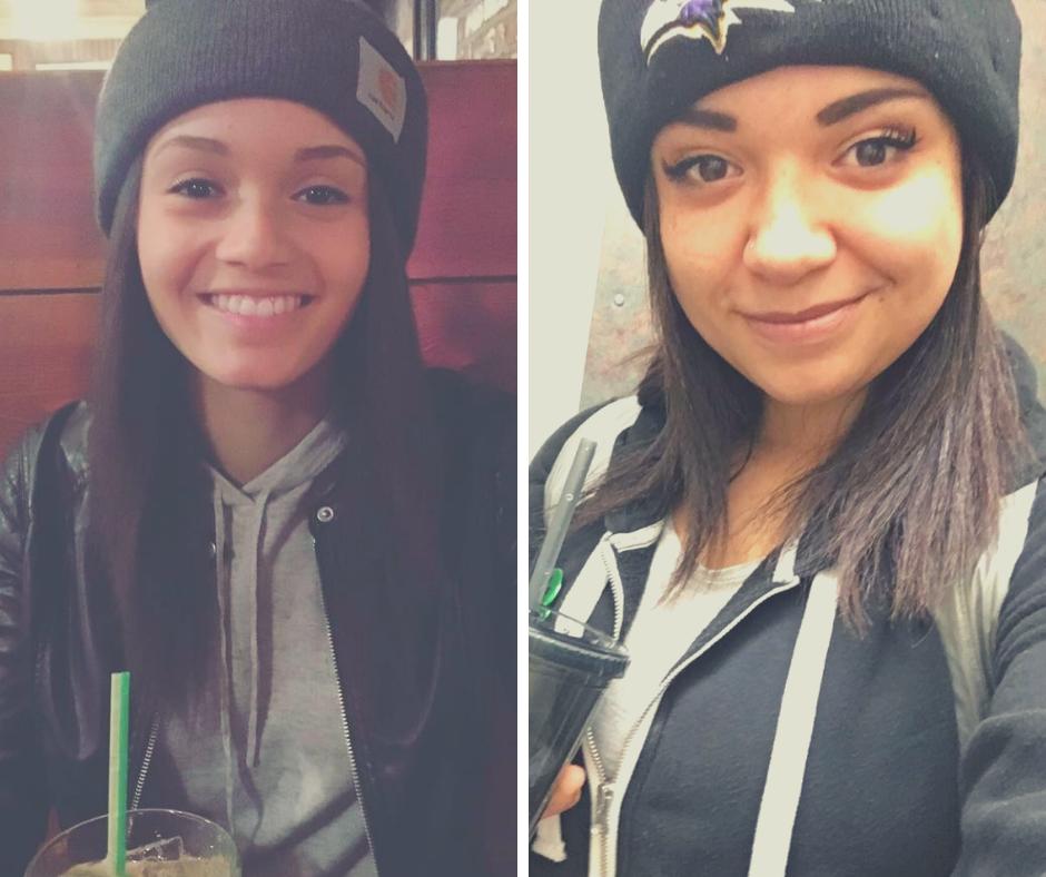 Caption: Eboni (left) and Raven (right)