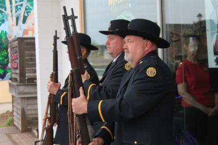 Caption: American Legion Post 413 - Honor Guard Memorial Day 2019 , Credit: Rhonda Silence
