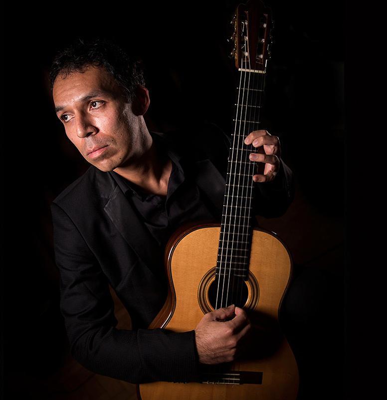 Caption: Guitarist-composer Jorge Caballero