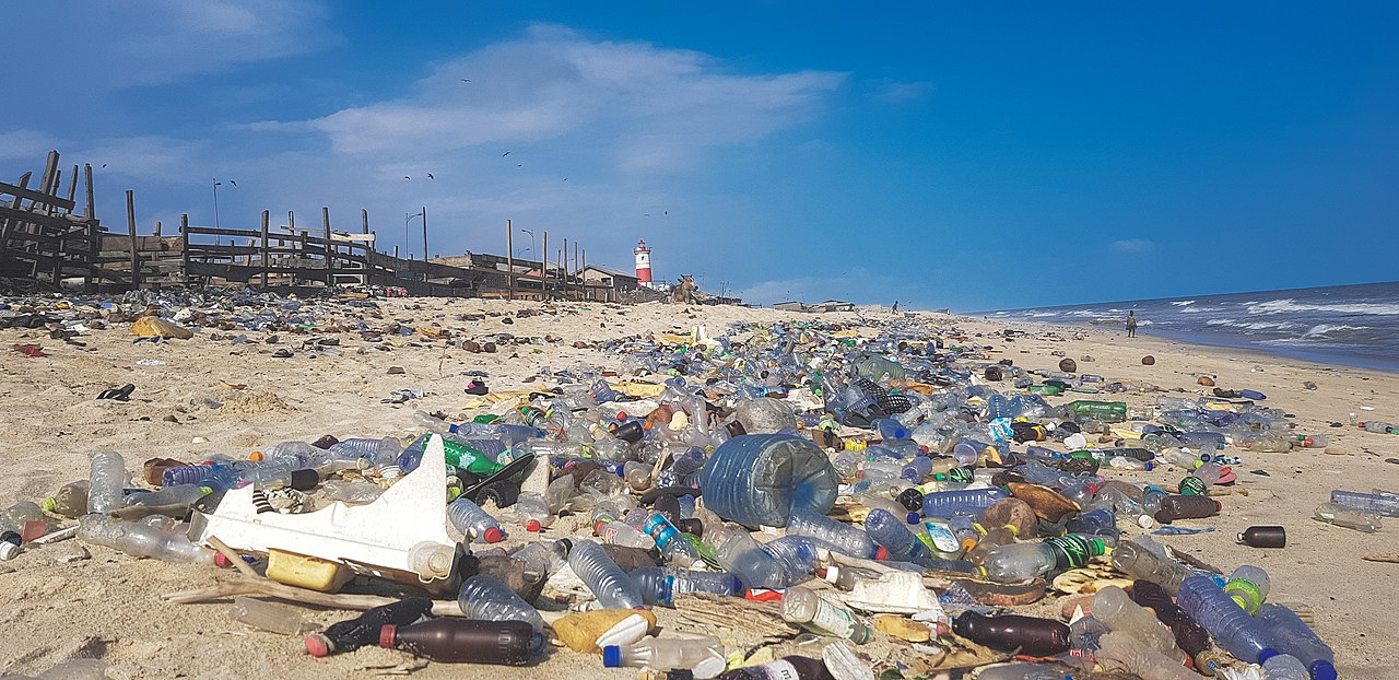 Caption: Plastic pollution in Ghana (Wikipedia)