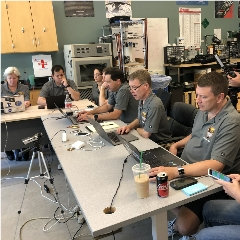 Caption: The LightSail 2 mission operations team moments before the cubesat's big sail was deployed., Credit: Mat Kaplan