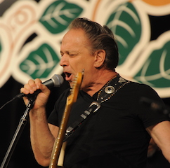 Caption: The legendary Jimmie Vaughan on the WoodSongs Stage!
