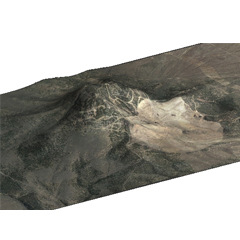 Caption: 3D rendering of Mt. Hope NV, Credit: Brian Bahouth