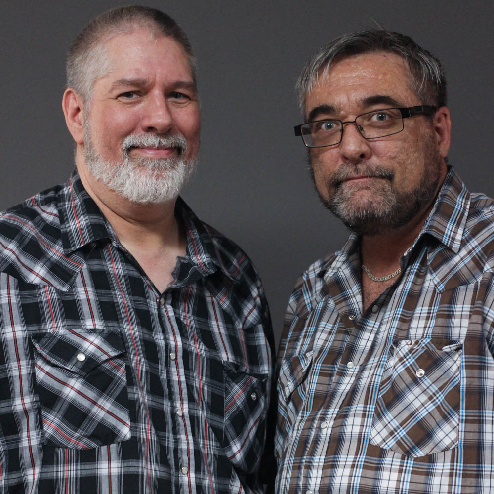 Caption: Donnie Pedrola and Tom Gasko at their StoryCorps interview in Rolla, Missouri on June 26, 2019. , Credit: By Dupe Oyebolu for StoryCorps.