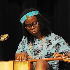 Caption: The guitar mastery of Yasmin Williams.