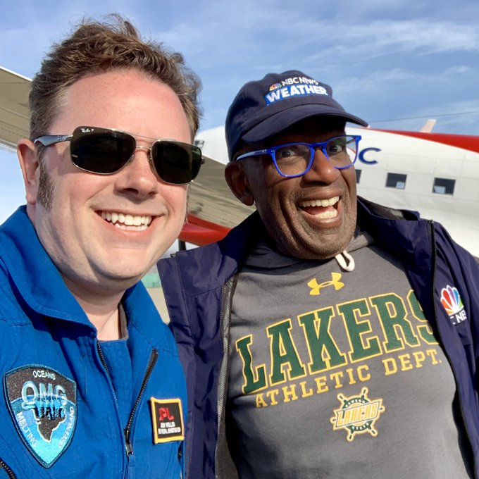 Caption: Climate Elvis with Al Roker