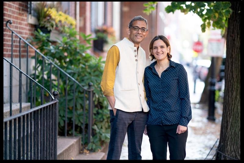 Caption: Abhijit Banerjee and Esther Duflo, Credit: Bryce Vickmark for news.mit.edu