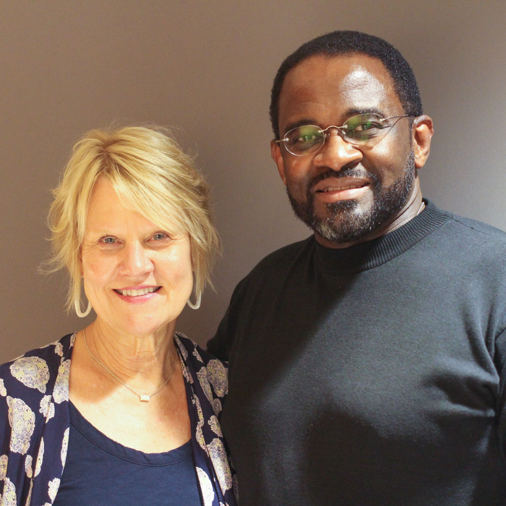 Caption: Natalie Guice Adams and Eli Brown at their at their StoryCorps interview in Birmingham, AL on October 2, 2019., Credit: By Emilyn Sosa for StoryCorps.