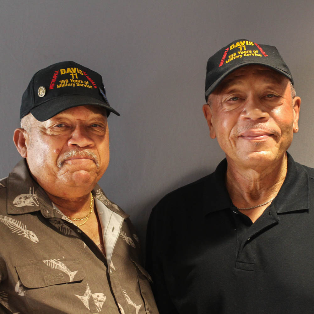 Caption: Lebronze and Arguster Davis at their StoryCorps interview in Birmingham on October 3, 2019., Credit: By Emilyn Sosa for StoryCorps.