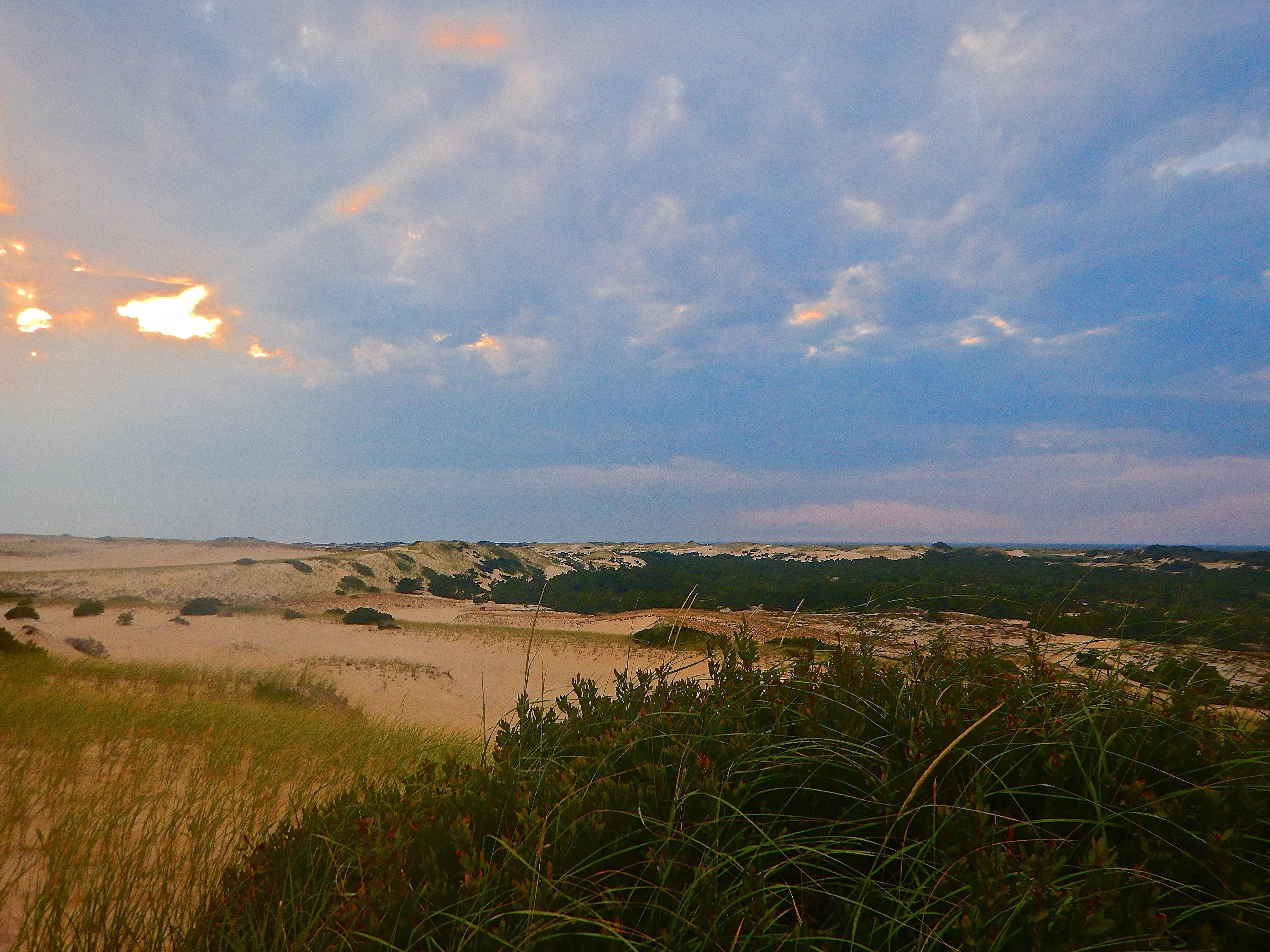 Caption: Sunset Over the Province Lands, Cape Cod, MA, Credit: Brian Aust
