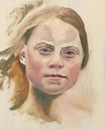 Caption: Greta Thunberg