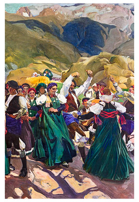 "Caption: ""La jota"" by Joaquín Sorolla , Aragón (1914)"