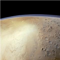 Caption: Hellas Basin from the Mars Express orbiter, Credit: ESA / DLR / FU Berlin / Justin Cowart