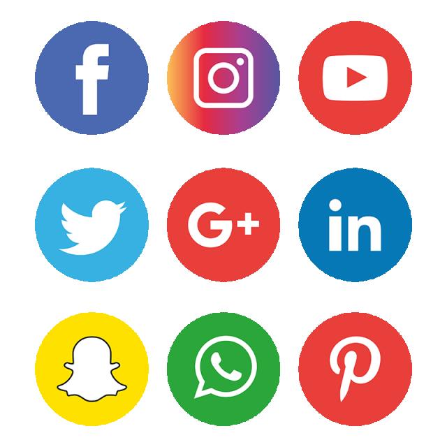Caption: variouys social media icons