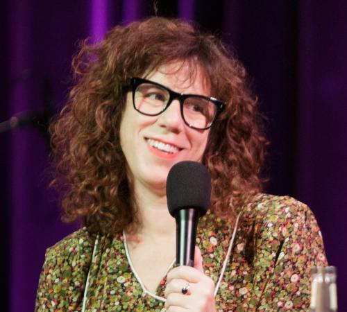 Caption: Jami Attenberg on Live Wire, Credit: Jennie Baker