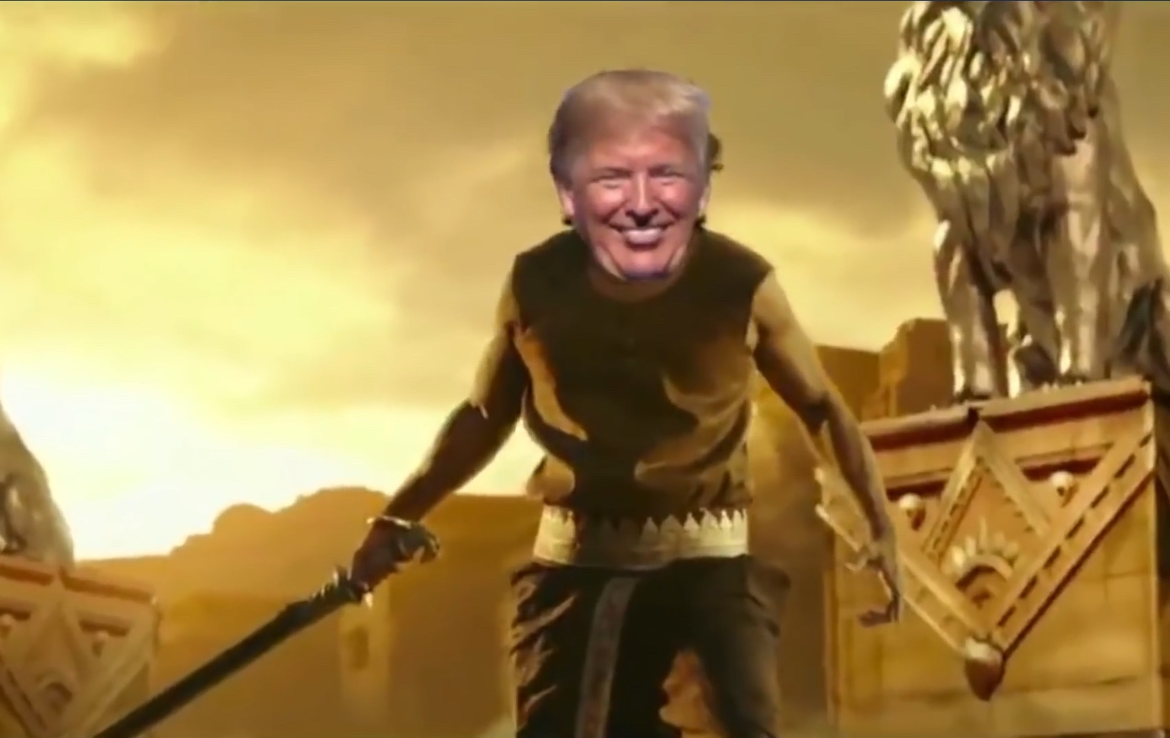 Caption: Trump as Baahubali
