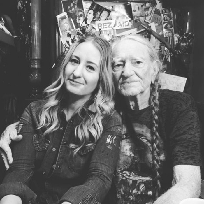Caption: Margo Price and Willie Nelson