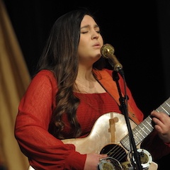 Caption: The soulful songwriting of Jessie Clement on the WoodSongs Stage.
