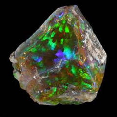 Caption: uncut fire opal