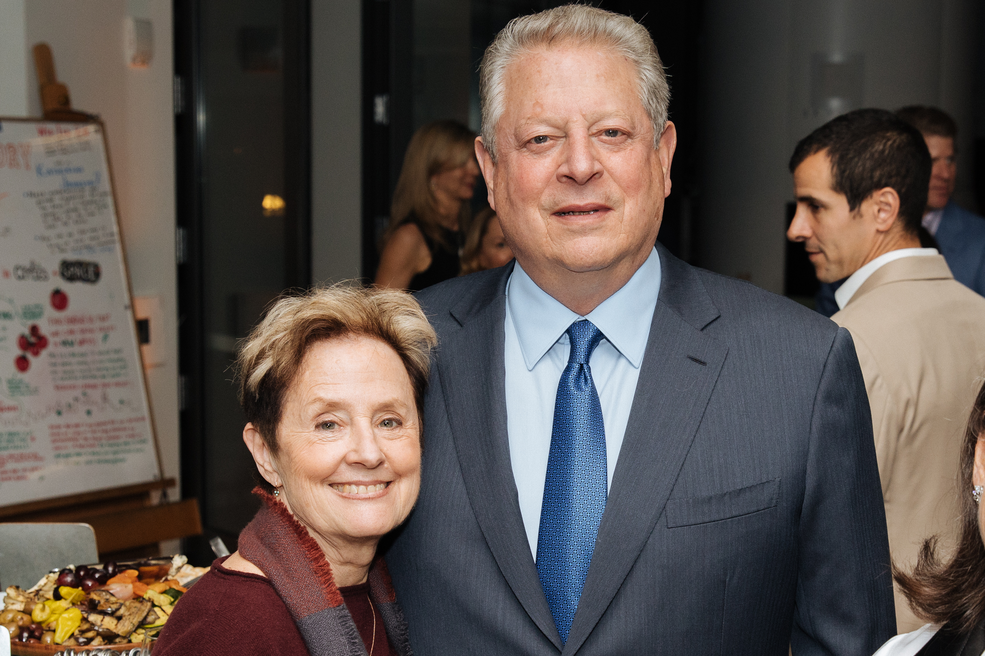 Caption: Alice Waters and Al Gore