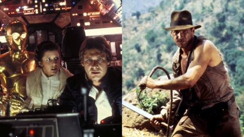 Caption: 'Star Wars' and 'Indiana Jones and the Temple of Doom'
