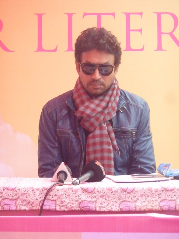 Caption: Irrfan Khan at a literary festival, Credit: Sandip Roy