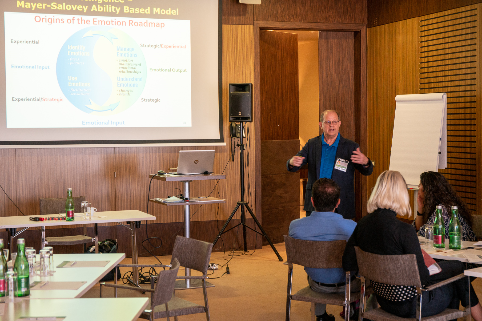 Caption: Teaching about Emotional Intelligence in Vienna in 2019