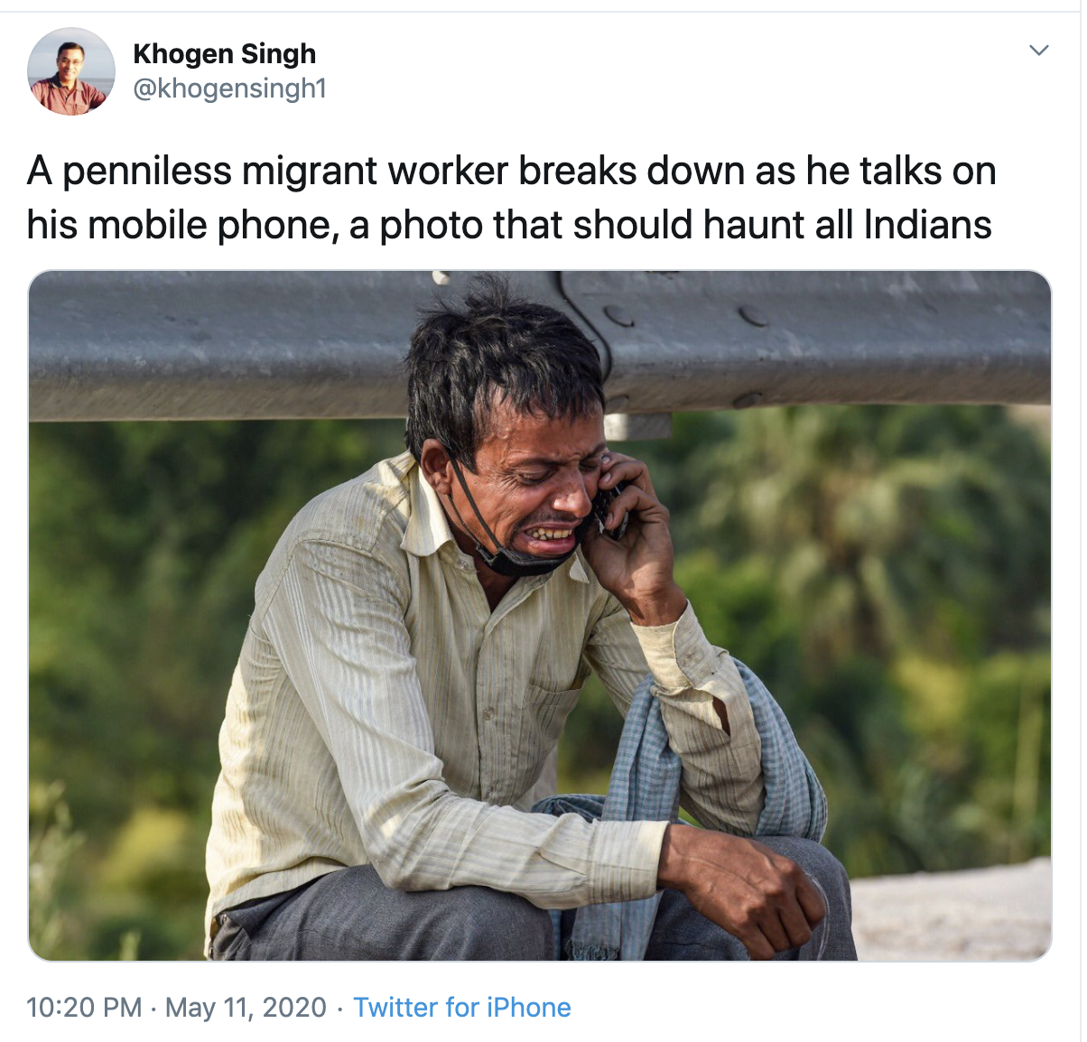Caption: A screen capture from Sandip Roy's Twitter feed, Credit: Sandip Roy