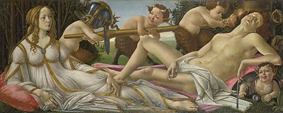 Caption: 'Venus And Mars', Credit: Botticelli