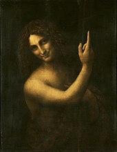 Caption: 'St. John The Baptist', Credit: Leonardo da Vinci