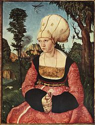 Caption: 'Anna Cuspinian', Credit: Lucas Cranach The Elder