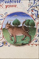 Caption: 'April-Taurus', Credit: Jean Fouquet