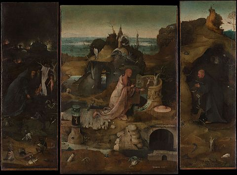 Caption: 'The Hermit Saints', Credit: Hieronymus Bosch