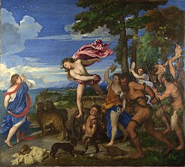 Caption: 'Bacchus And Ariadne', Credit: Titian