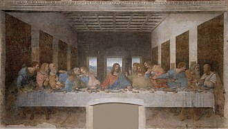 Caption: 'The Last Supper', Credit: Leonardo da Vinci