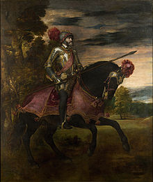 Caption: 'Equestrian Portrait Of Charles V', Credit: Titian