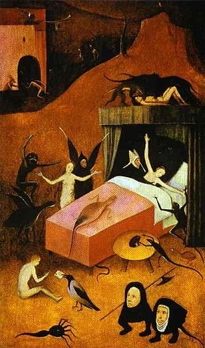 Caption: 'Death Of The Reprobate', Credit: Hieronymus Bosch