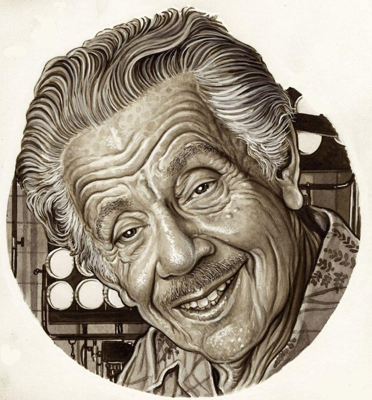Caption: Jerry Stiller, Credit: Drew Friedman